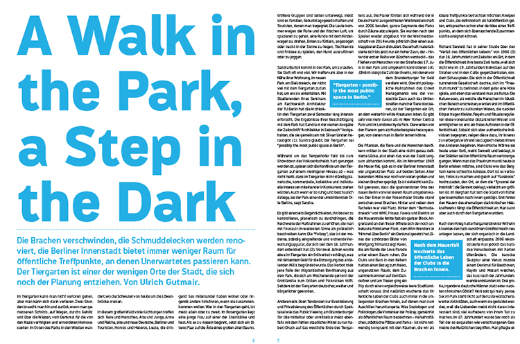 A Walk in the Park, a Step in the Dark by Ulrich Gutmair